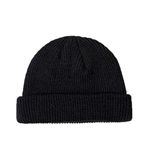 R-WEICHONG sombrero de pescador, unisex de invierno acanalado con puños cortos de...