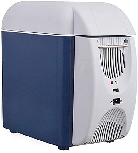TANKKWEQ Frigorífico portátil Compacto Cooler Torres Compacto Tor Mini FRIGO FRIGO Portable Compact Personal Nevera, enfrie y Calor, Capacidad 7.5L, Coche ecológico para