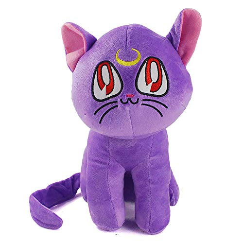 better daily life Sailor Moon Luna Juguete de peluche coleccionable, Sailor Moon Pet Cat Plush Toy,Sailor Moon Doll Peluche de algodón suave de peluche,Sailor Moon Luna Plush Soft Toys