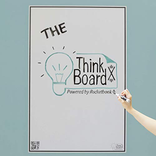 Think Board X Rocketbook Smart Stick-Up Whiteboard - 600 x 900 mm - Verwandeln Sie jede Oberfläche in ein Whiteboard - Verwenden Sie die Rocketbook-App, um Notizen in die Cloud hochzuladen
