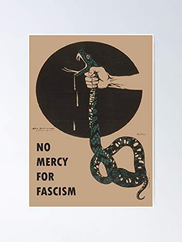 No Mercy for Fascism - Vintage Wwii Poster Design Poster