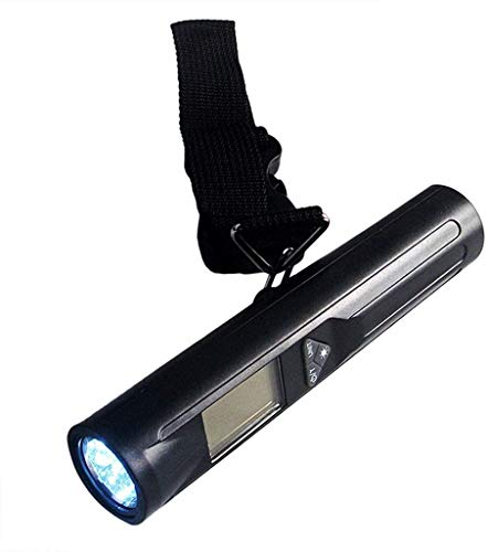 Scales Smart Escalas de Equipaje Digital Linterna incorporada pesan Maletas y Bolsas de hasta 40 kg Correas Super Fuertes compactas y portátiles |para Viajes aéreos ZSMFCD
