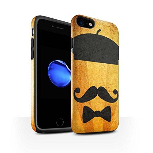 Stuff4 Telefoonhoesje/Cover/Skin/IP-3DTBG / Retro Moustache Collectie Apple iPhone SE 2020 Baret Hoed