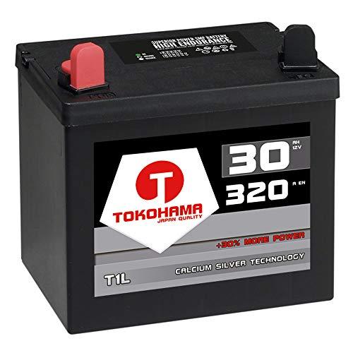 Tokohama T1L Rasentraktor Batterie Aufsitzmäher 12V 32Ah 310A Aufsitzrasenmäher Starterbatterie WARTUNGSFREI ersetzt 30Ah