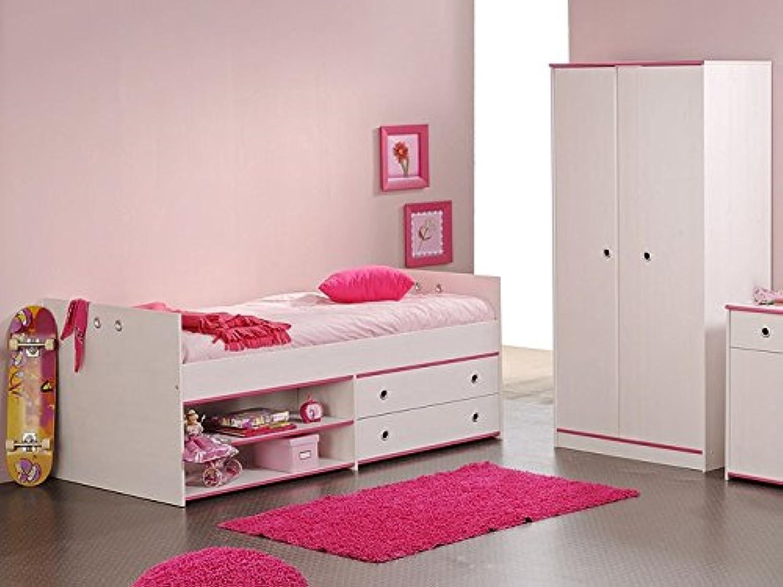 Kinderzimmer 2 Turig Stauraumbett Wei Kiefer Nb Schrank