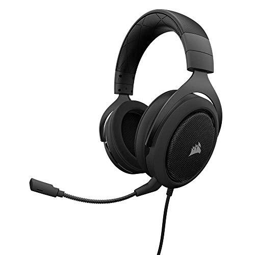 Corsair HS50 Gaming Headset / Stereo Kopfhörer (mit abnehmbaren Mikrofon, für PC/PS4/Xbox One/Switch/Mobiltelefon) schwarz