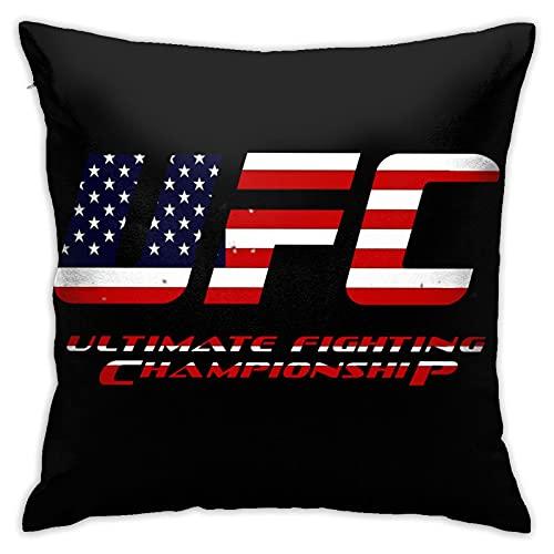 RQKTAKEJOK UFC Fundas de cojín de poliéster Fundas de cojín de sofá Decorativas Modernas para el hogar (45 x 45 cm)