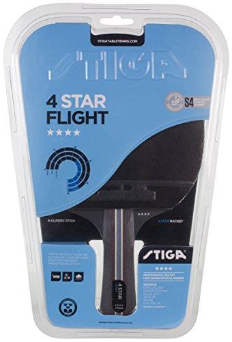 Stiga 4-Star Flight Raquette de Tennis de Table Mixte Adulte, Noir/Rouge, Taille Unique