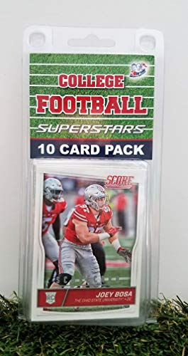 Ohio St Buckeyes- (10) Card Pack College Football Different Buckeye Superstars Starter Kit! Comes in Souvenir Case! Great Mix of Modern & Vintage Players for the Super Buckeyes Fan! By 3bros