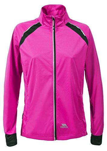 Trespass Covered, Pink Glow, M, Wasserdichte Kompakt Zusammenfaltbare Jacke mit einrollbarer Kapuze für Damen, Medium, Rosa / Pink