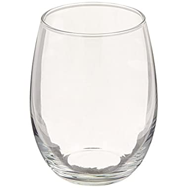 Luminarc Perfection Stemless Wine Glass (Set of 12), 15 oz, Clear