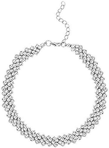 ZPPYMXGZ Co.,ltd Collar Candado Collar Cadena Hueso Gargantilla Mujer