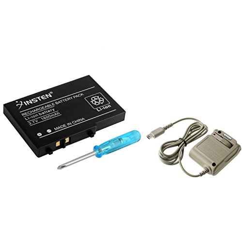 Insten Compatible With Nintendo DS Lite DSL AC Adapter Charger + Battery