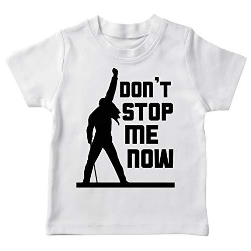 lepni.me Camiseta para Niños Don't Stop me Now! Camisas de Abanico, Regalos de músicos, Ropa de Rock (7-8 Years Blanco Multicolor)