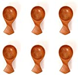 The Indus Valley Masala Spoon Set of 6 for Small Containers [ Table Spoon Size   Neem Wood ] Handmade Wooden Spoon for Tea, Coffee, Sugar, Condiments & Spices