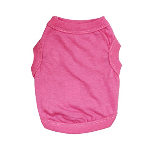 Alroman Dogs Shirts Pink Vest Clothing for Dogs Cats XL Dog Vacation Shirt Female Dog Clothing Puppy Summer Clothes Girl Cotton Summer Shirt Small Dog Cat Pet Clothes Vest T-Shirt Apparel