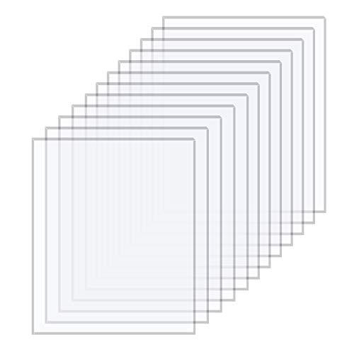 12 Stück (200x250x1 mm) Klare Acrylplatten Transparente Plexiglas Acrylglas Acryl Bltter für Fotorahmen Bilderrahmen Glas Ersatz DIY Projekte Display und Malerei Handwerk