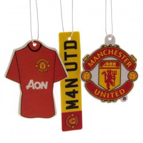 Manchester United F.C. Désodorisant cadeau Accessoire-Pack de 3–Parfait pour anniversaire idée cadeau pour Noël hommes et garçonnets