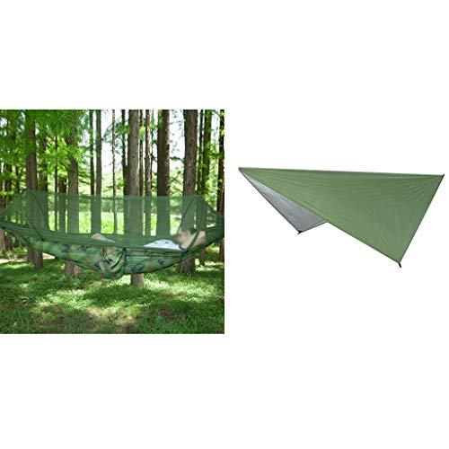 ZYM Hamaca de Camping de Mosquitos, hamacas de Nylon y combinación de Dosel multifunción para Patio Trasero. (Color : H)