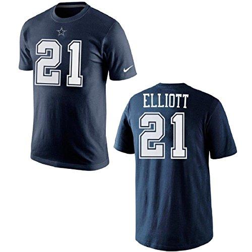 NFL Football T-Shirt Dallas Cowboys Ezekiel Elliott #21 Trikot Jersey Receiver (M)