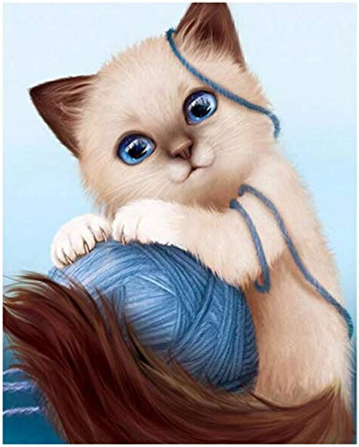 Crafts Paint Jobs By Digital Kit,Kids color By Number Kit With Tag, Playing Cats,16''X20''