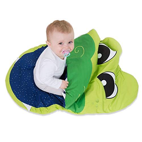 all Kids United Gigoteuse Enfant en Coton Barboteuse chancelière pour Fille et garçon 85 x 70 x 6 cm - Sac et Poussette d'hiver en Crocodile