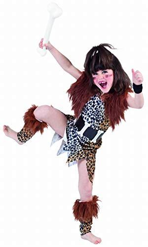 EuroCarnavales 'Traje de la Edad de Piedra' - Traje de carnaval para niña, 10 - 12 años