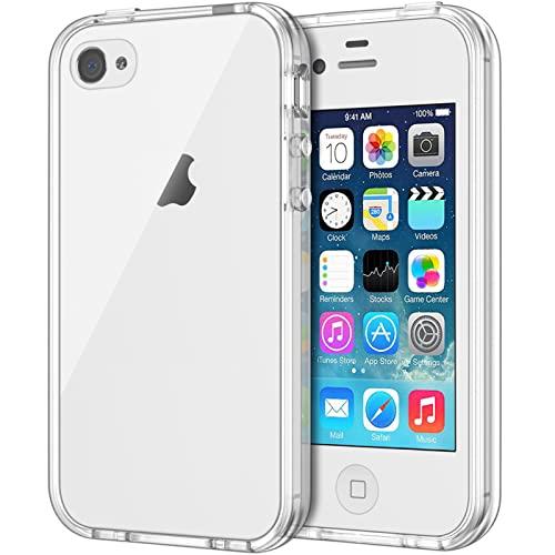 JETech Hülle Kompatibel mit iPhone 4s iPhone 4, Handyhülle mit Anti-kratzt Transparente & Rückseite, HD Klar