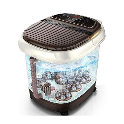 UNU_YAN Modern Simplicity Foot Bañera de pie Bañera automática Masaje eléctrico Calefacción Pedicura Hogar Máquina Termostático Pie Massager Pie Bath Barrel