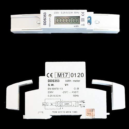 MID-Wechselstromzähler Stromzähler Zwischenzähler 220/230V DIN-Hutschiene digital kWh MID-geeicht ZW2
