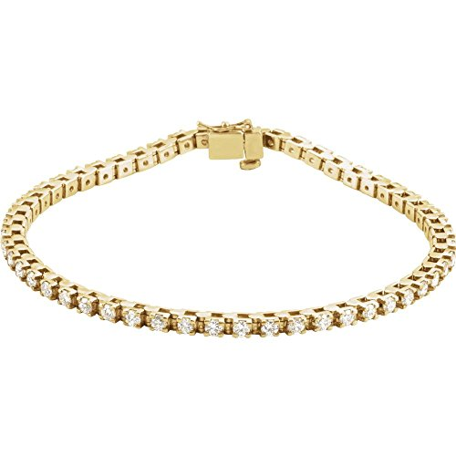 14k Yellow Gold Diamond Bracelet 2 1/8ct Jewelry Gifts for Women