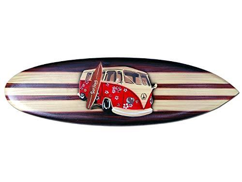Seestern Sportswear Tabla de surf decorativa de madera, 50,80 o 100 cm, diseño de aerógrafo, surf, surf, surf, surf, surf, surf, surf, surf, surf, 50 cm