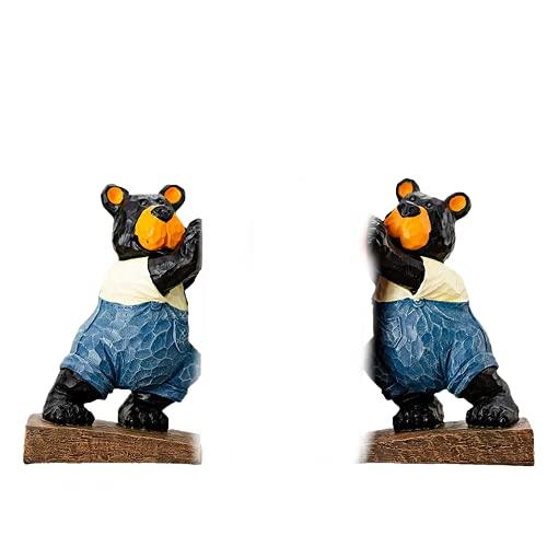 Extremos de libro de oso de dibujos animados hechos a mano, sujetalibros decorativos, sujetalibros para niños, soporte para estantería de libros, decoración para el hogar, adultos, regalo para niños