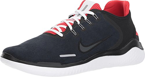 Nike Free RN 2018 DNA Running Shoe, Black/Anthracite-Speed Red, 12