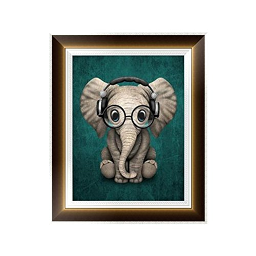 Adarl 5D DIY Diamond Painting Rhinestone Pictures of Crystals Embroidery Kits Arts, Crafts & Sewing Cross Stitch (Lovely Elephant)