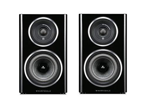 Wharfedale D11.1B Lautsprecherpaar Passive für Regal, Schwarz