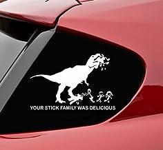 Slap-Art Your Stick Family was Delicious T-Rex - Vinyl Decal Sticker