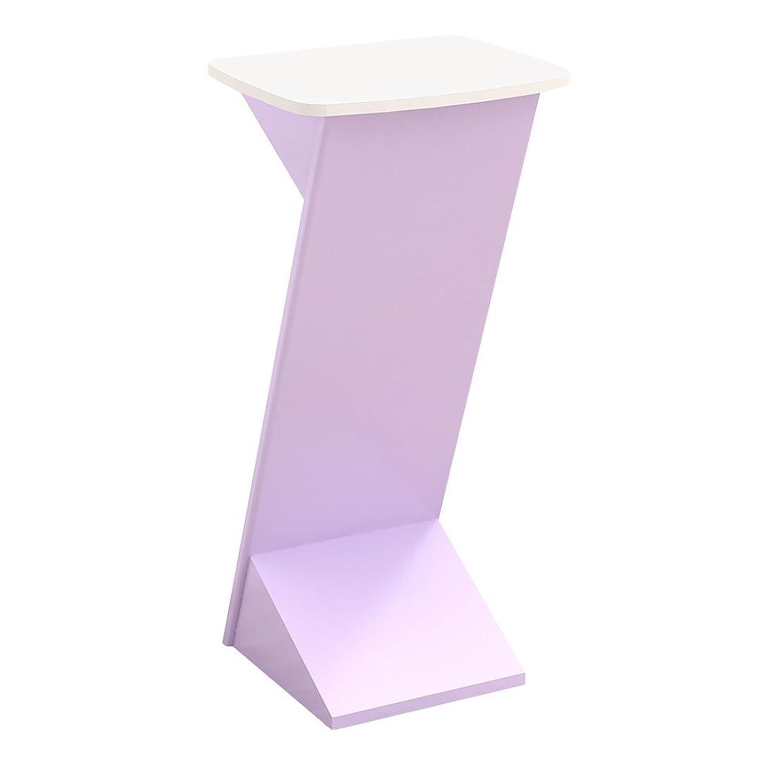 挑発する画像忘れる家具のAKIRA 受付台 おしゃれな電話台 テレフォンスタンド 無人カウンター ピンク