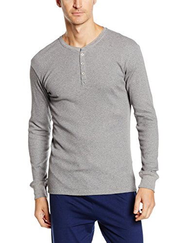 Levi's Herren Levis 300LS Long Sleeve Henley 1P Unterhemd, Grau (Middle Grey Melange 758), Medium