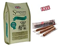 Simpsons Premium Sensitive Lamb & Potato Economy Pack: 2 x 12kg is a nutritionally balanced grain free diet ideal for Adult dogs with sensitive skin and/or delicate digestions. Also suitable for Juniors that cannot tolerate grain diets. This natural ...