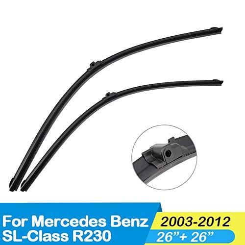 CYBHR Accesorios para automóviles limpiaparabrisas del Coche, para Mercedes Benz SL Class R230 2003 2004 2005 2006 2007 2008 2009 2010 2011 2012