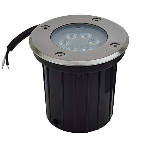 LEDwholesalers Low Voltage In-Ground LED Well Light with Brushed Stainless Steel Trim 3-Watt, 3731
