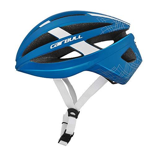 Casco bici da corsa Cairbull Vista Casco protettivo ultraleggero con luce posteriore USB - casco cilindro M/L 54-61 cm regolabile.Disponibile in quattro colori (blu)