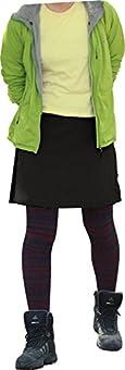 【LAD WEATHER】トレッキング スカート はっ水/防汚/防油/速乾/耐久性 アウトドア キャンプ レディース/女性 (S, 黒)
