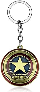 Marvel Comics Super Hero Avengers Keychains Captain America Shield Key Chain Holder Purse Bag Buckle Accessories Gift Keyring
