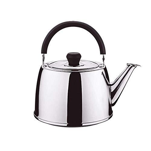 Tetera de Silbato Espesa de Acero Inoxidable, Adecuada para Todas Las Estufas, Utilizada para té, café o Leche (tamaño: 5 l)