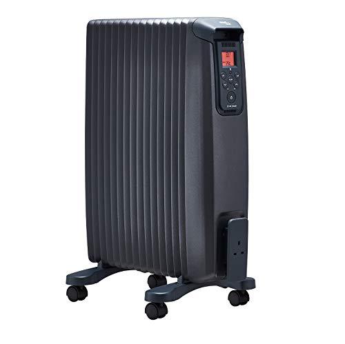 EvoRad 2 BTA, mobiele verwarming met wielen, elektrische verwarming met app-besturing en kleurendisplay, stille werking, geschikt voor woon- en slaapkamer, 2000 W