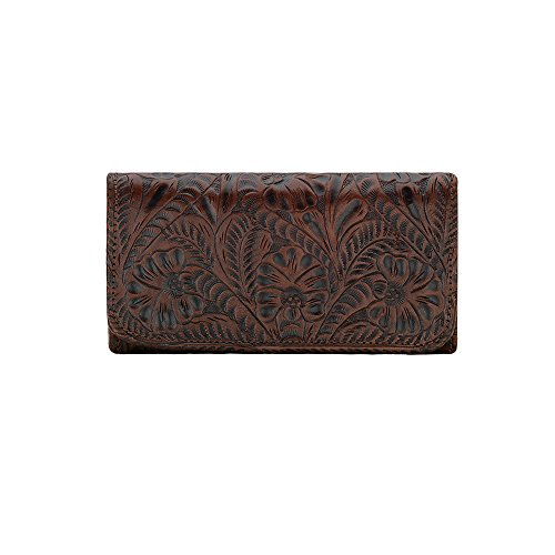 American West Women's Annie's Secret Tri-Fold Wallet Brown One Size