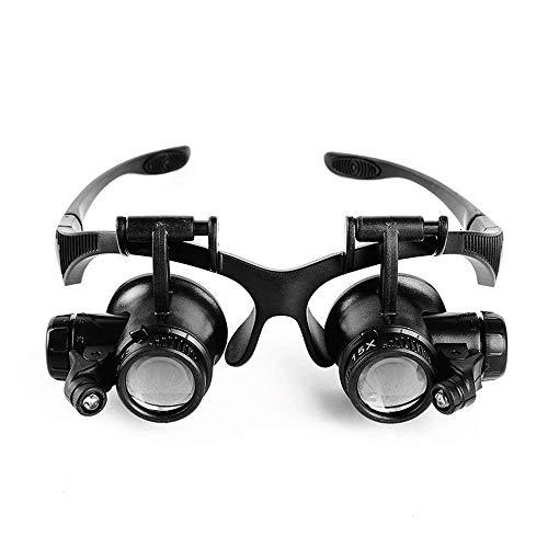 FDJ Het dragen van een Verrekijker Vergrootglas met Licht Reparatie Klok Versterker