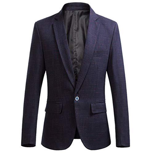 HaiDean Mannen Zakelijke Jas Een Slimme Mode Knop Blazer Moderne Casual Jas Jonge Vrije Tijd Tuxedo Pak Outwear Sportieve Blazer